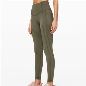 Lululemon olive all the right places